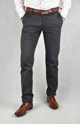 Spodnie męskie chino szare SLIM W30 L34