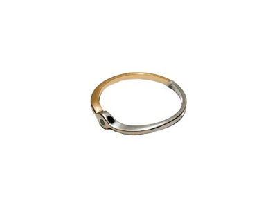 Pierścionek złoty p.585 1,15g r.14 DIAMENT