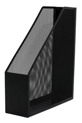 Pojemnik na dokumenty metalowy czarny siatka