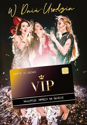 Kartki urodzinowe z kartą kredytową VIP 3D GIFT137