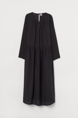 H&M 38 M Sukienka DO POŁOWY ŁYDKI CZERWONA