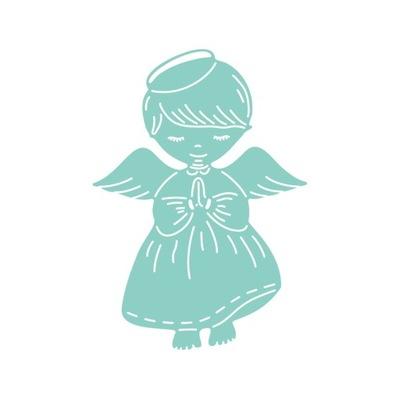 Wykrojnik ангел МАЛЬЧИК 6 ,8 см x 9 ,5 см