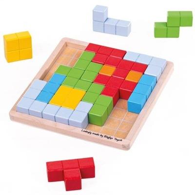 BIGJIGS Drewniana Gra Logiczna Tetris 33019