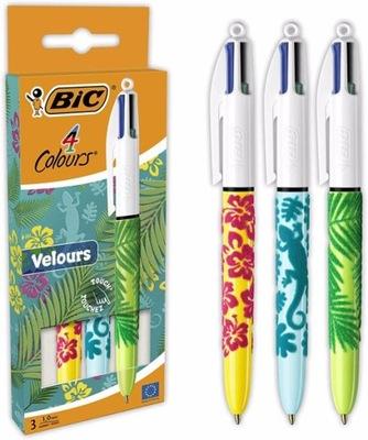 Długopis 4 kolory czterokolorowy Bic Colour WELUR