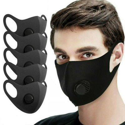 5szt.Maska Maseczka ANTYWIRUSOWA WIELORAZOWA Filtr