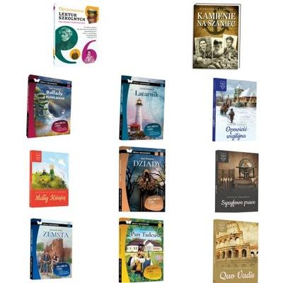 Lektury obowiązkowe kl.VII-VIII pakiet 11 książek