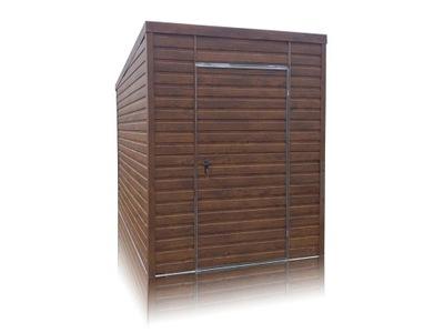 Garaże blaszane blaszak schowek drewnopodobny 2x3
