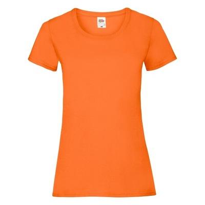 Koszulka Valueweight Fruit Loom Pomarańczowy L