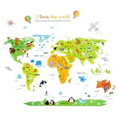 наклейки__ на_ стену instagram Карта Мира для детей