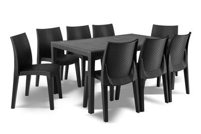 комплект Дачной Мебели PRINCE Lady8 Антрацит EG