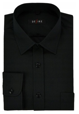 Koszula męska duży rozmiar 3XL elastan czarna