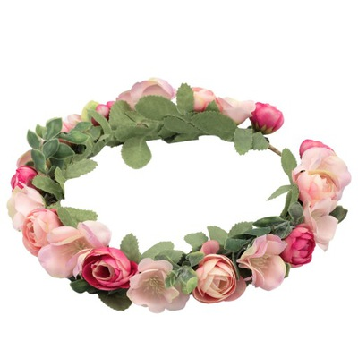 Wianek na głowę ze sztucznych kwiatów ślub komunia