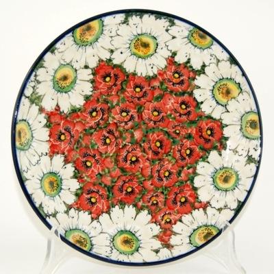 Тарелка цветы  ??????????  ⌀26 , 5см керамика