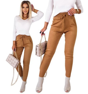 Kobiece Spodnie DZIANINOWE JOGGERSY Super Wygodne