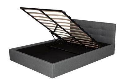 Серые кровать МЯГКАЯ ? контейнером 140х200