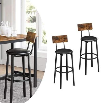 Hokery krzesła barowe stołki rustykalne 2 szt