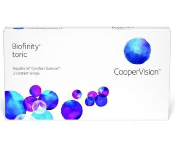 Miesięczne soczewki Kontaktowe Biofinity Toric