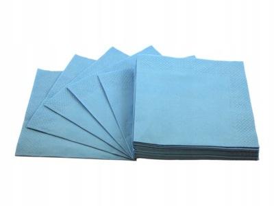 Serwetki papierowe 3-warstwy 33x33 błękitne 20szt.
