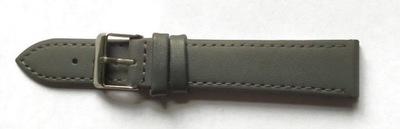 PASEK do zegarka SKÓRZANY ciemno SZARY 10mm