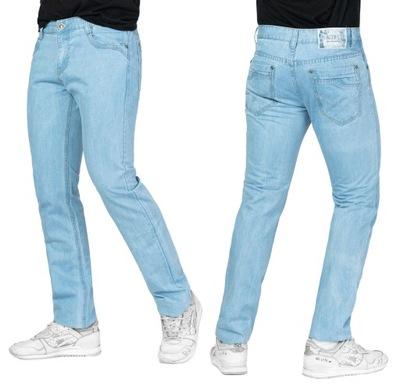 Spodnie Męskie Jeansy Jasne Niebieskie 214 r 88 cm