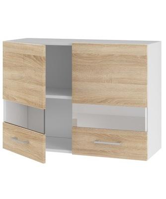 Шкаф кухонная верхний 80 витрина сонома ??? комплект