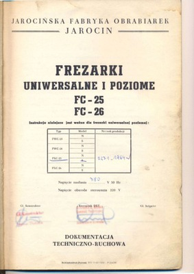 DTR - Frezarka Uniwersalna FWC-25