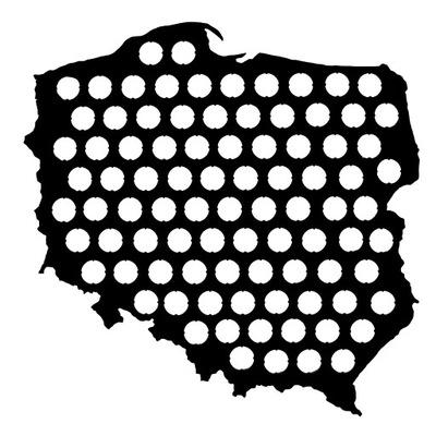 польский  Карта 60x60 см на Колпачки пиво Piwna подарок