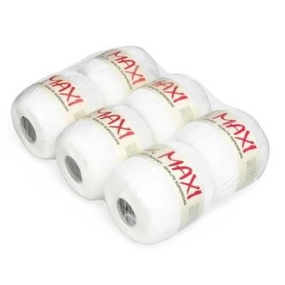 Kordonek Maxi kol. Biały / zestaw 6 sztuk