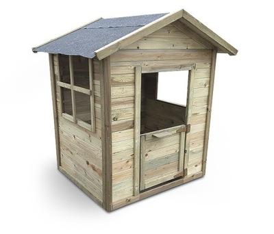 Domek zabaw drewniany dla dzieci Karol