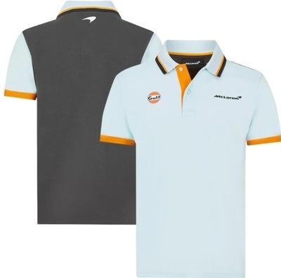 Koszulka polo McLAREN F1 kolorystyka GULF r. S