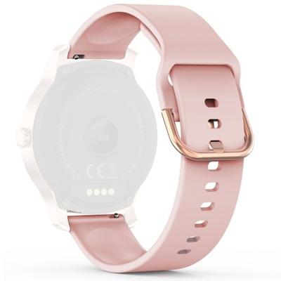 Pasek silikonowy różowy do zegarka Smartwatch 20mm