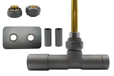 Regulačný ventil Unico 50mm grafit str. + PEX spojka + VYPÚŠŤANIE