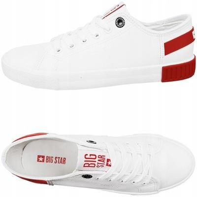 Trampki Big Star białe buty ekoskóra FF274174 37