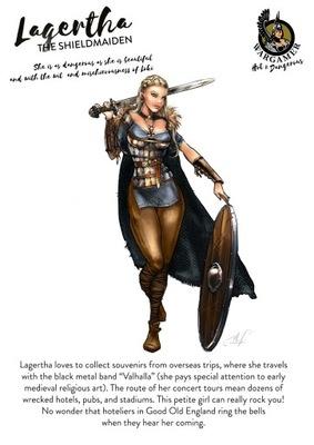 H&D -Lagertha, Shieldmaiden (54) В. МЕТАЛЛИЧЕСКАЯ опора