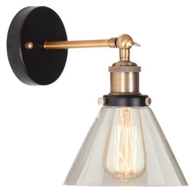 Vintage lampa ścienna transparentny 40W IP20 do ja