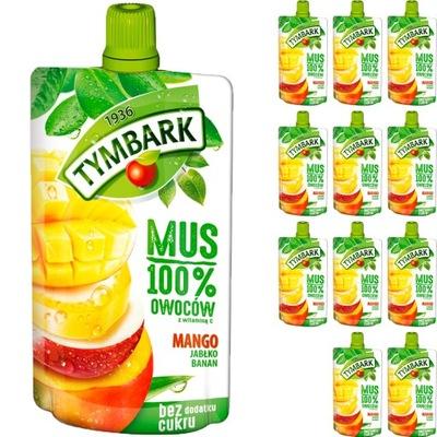 Tymbark Mus 100% Mango Banan Jabłko 12x120g