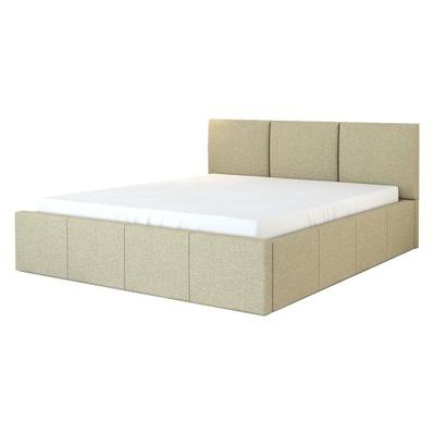 łóżko LISA tapicerowane stelaż + materac 160x200
