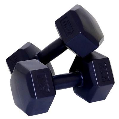 Cvičenie s činkami 2x5 kg bitúmenové závažia SADA