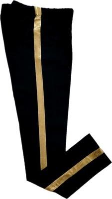 Getry legginsy czarne ze złotym lampasem AIPI 116