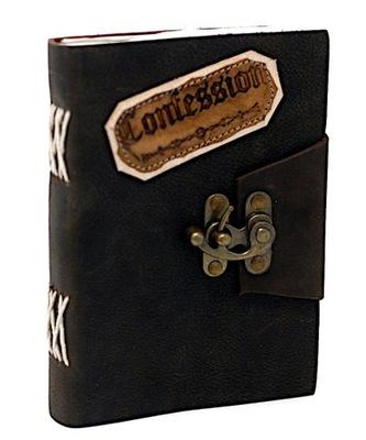 Skórzany Notatnik - Spowiedź Confession pamiętnik