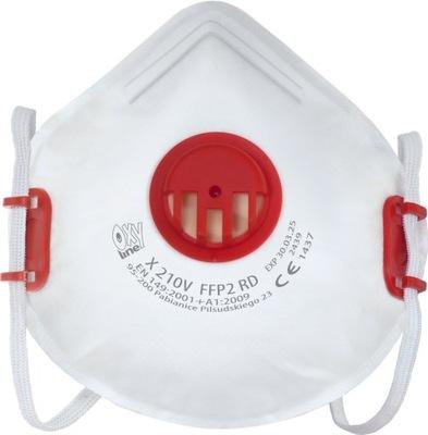 OxyLine Półmaska Maska Ochronna FFP2 Zaworkiem P2