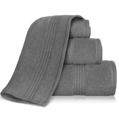 Ręcznik 70x140 bawełniany AMIE grafit 450gsm