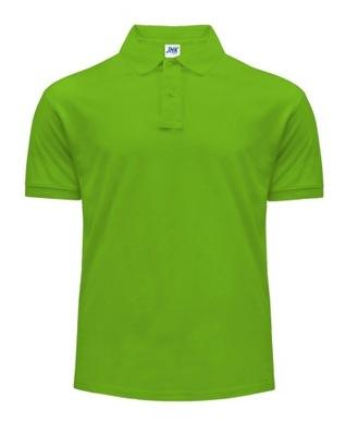 Koszulka POLO męska 100% bawełna JHK LIME L