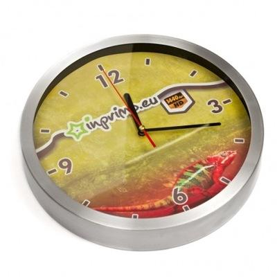 Zegar ZEGARY metalowy reklamowy Z LOGO nadruk 5szt