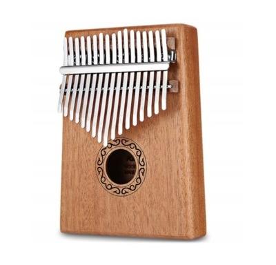 Drewniana Kalimba Przenośne pianino 17 klawiszy