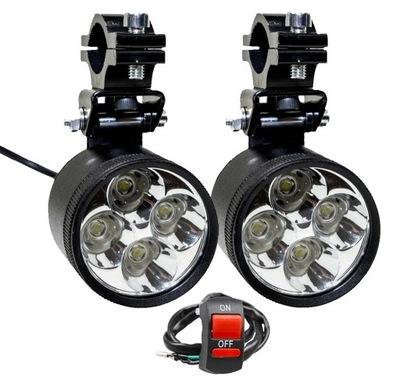2x HALOGEN 4 LED LAMPA 40W REFLEKTOR QUAD+WŁĄCZNIK