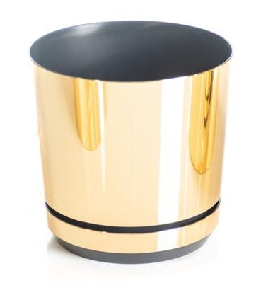 Doniczka DEKOR śr. 12 cm kolor złoty błyszczący