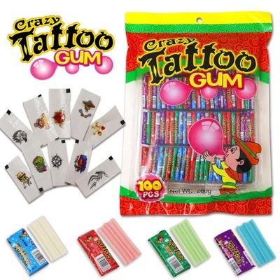 Crazy TattooGum guma z tatuażem na hallowen 100szt
