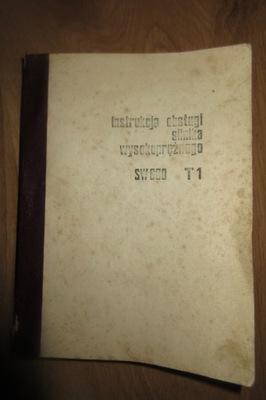 Książka Instrukcja obslugi silników z 1975roku
