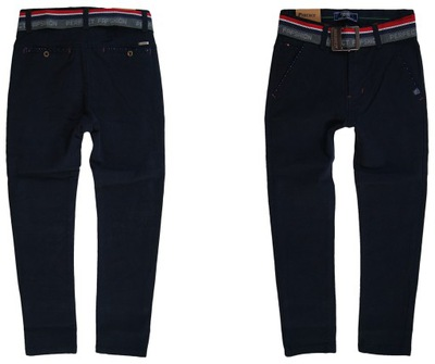 83 Wizytowe Spodnie eleganckie Chinos Slim 134/140